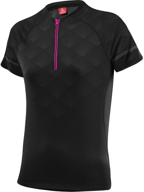 Löffler Jessy Bike Shirt Half-Zip Damen schwarz/berry